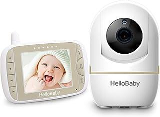 HelloBaby Video Baby Monitor con Cámara Remota Pan-Tilt-Zoom Pantalla LCD a Color de 32 Pulgadas Monitor Infrarrojo de Visión Nocturna Monitoreo de dos Vías HB65 (Dorado champagne)