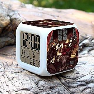 Allegro Huyer Anime Black Butler Digital Action Figure Alarm Clock Collectible Model Toy Saat Despertador 7