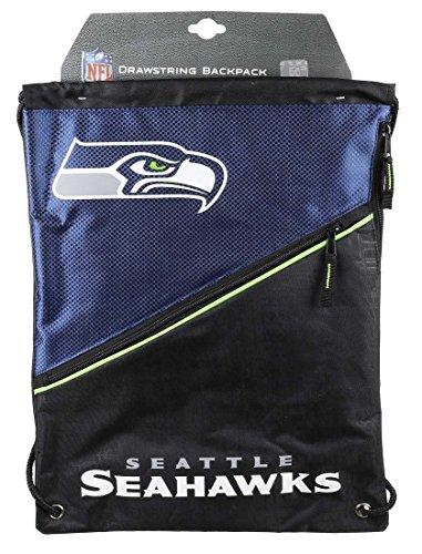 Seattle Seahawks Diagonal Zip Gymbag