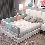Riel de cama ajustable para niños pequeños y niños, 1 pieza (20/24 pulgadas) de altura ajustable, fácil de instalar para cuna para niños pequeños o camas para adultos (tamaño: 50 cm)