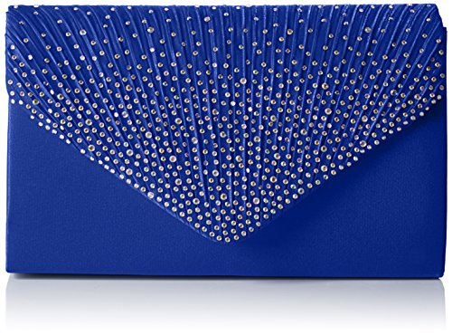 SwankySwans Abby Damen Clutch im Umschlag-Stil mit Strasssteinbesatz, Blau - Blau (Königsblau) - Größe: Einheitsgröße