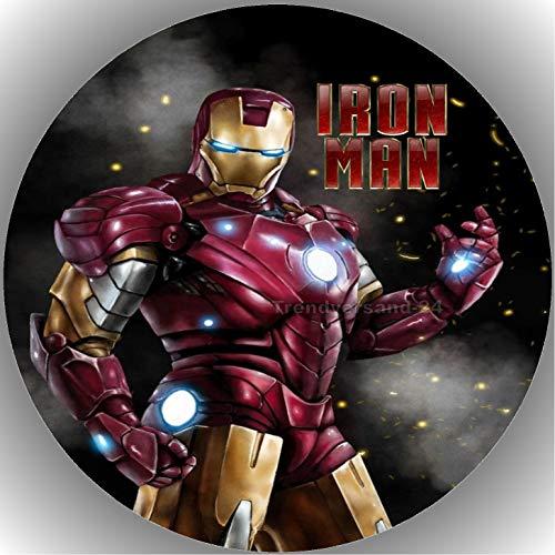 Fondant Tortenaufleger Tortenbild Geburtstag Iron Man T1