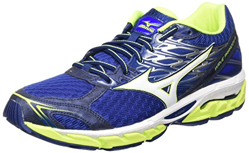Mizuno Wave Paradox, Zapatillas de Running para Hombre, Multicolor (Bluedeptths/White/safetyyellow), 42.5 EU