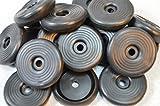 24 X Gummi Fußkappe Standfläche: ca. 45 mm (4,5 cm), Ø Öffnung (Tisch oder Stuhlbein): ca.35 mm (3,5 cm) für Biergartenstuhl/Tisch Mainau/Peru u.a. rund schwarz Tisch Stuhl Bank Biergarten
