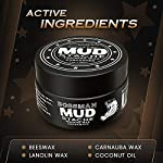 Bossman MUDstache Wax Unscented Mustache Wax - Mustach Grooming Care - Strong Hold for Taming, Training and Styling (1oz… 8