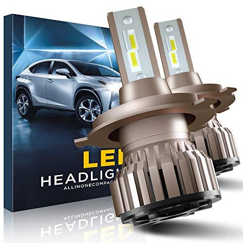 Bombillas H4 LED, 10800LM 6000K Faros Delanteros para Coche
