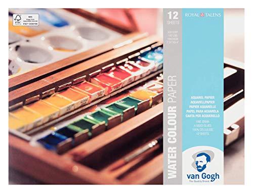 Royal Talens–Van Gogh–Papel de acuarela bloques–18x 24cm–12hojas–paisaje