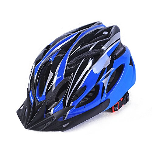 LightweightAllround Cycling Helmets, Adjustable Mountain & Road Bike Helmetsfor Adults, 18 Vents with Adjustable StrapFits Head Sizes 57-63cm Black & Blue
