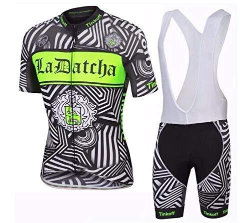 Topbike Fietskleding voor heren, ademend, jersey met bib shorts