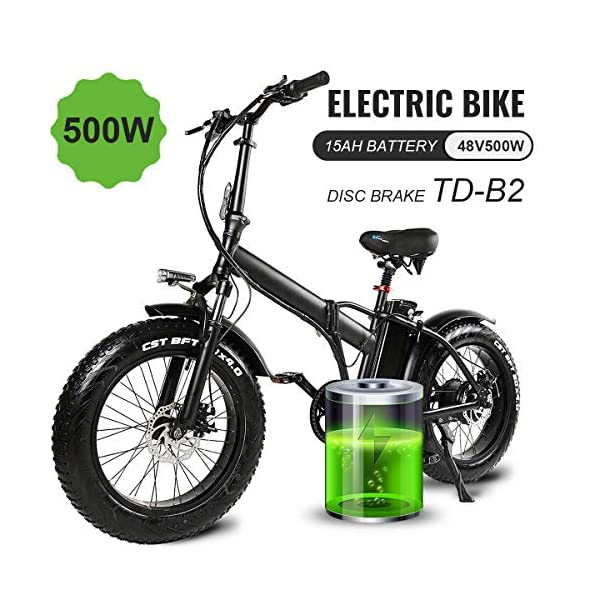 Electric Bikes MARTES Electric Folding Bike Fat Tire 20 * 4″ with 48V 15Ah Lithium-ion Battery 500W Motor, City Mountain Bicycle Booster 100-120KM [tag]