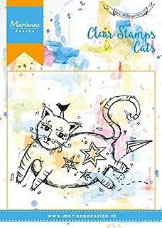 Marianne Design, Sellos Transparentes, Gato Gordo, para Manualidades de Estampado y Sellado, plastico, 100x140