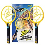 ZAP IT Bug Zapper Twin-Pack Rechargeable Bug Zapper Racket, 4,000 Volt, USB Charger, Medium, Yellow