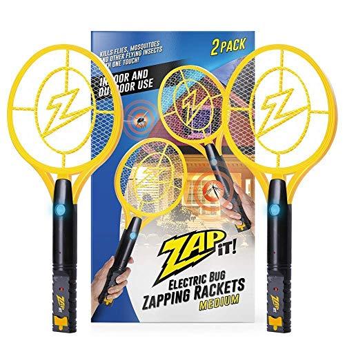 ZAP IT Bug Zapper Twin-Pack Rechargeable Bug Zapper Racket, 4,000...