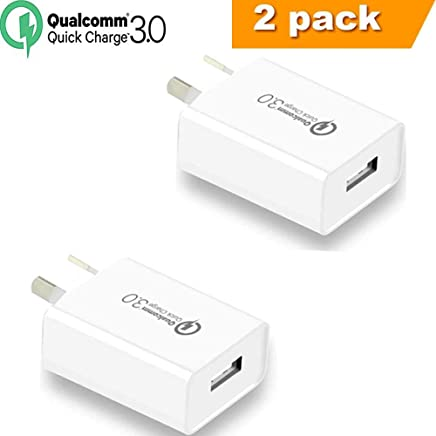 Quick Charge 3.0 with AUS Plug, IGUGIG 18W Qualcomm USB Wall Charger Adapter with Smart IC SAA Certified Compatible with iPhoneXs/Xs Max/X /8 Plus/8/,iPad,iPod,Samsung ,HTC,Xiaomi,Huawei (2-PACK)