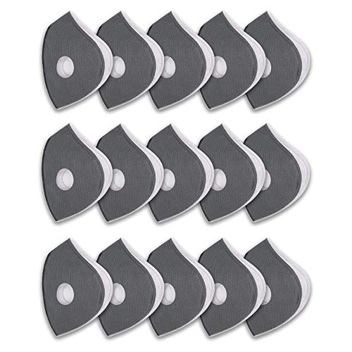 Replacement Parts, Active Carbon Filters for Mesh or Neoprene Mask,15 Pack