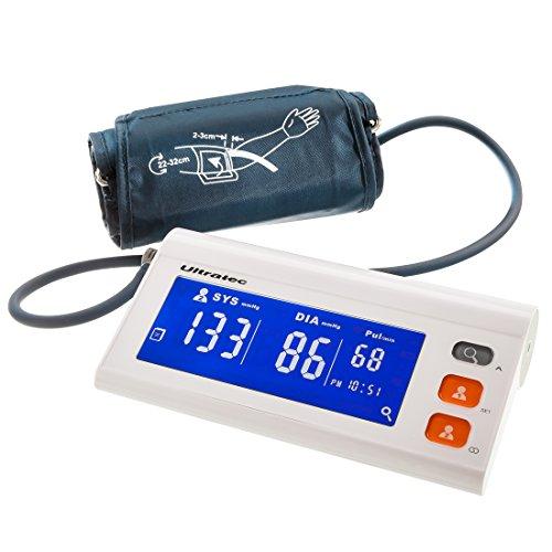 Ultratec bloeddrukmeter helping hands, Smart Blood Pressure Monitor, geschikt voor 2 gebruikers, inclusief app
