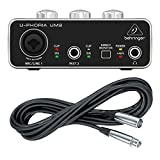 Behringer UM2 plus XLR Mic Cable U-PHORIA Audio Interface XENYX Mic Preamp