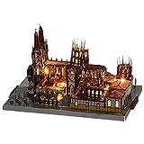 NAN DIY Modelo De Construcción Kit Rompecabezas De Madera Estéreo 3D Ensamblaje Modelo Rompecabezas De Madera Burgos Catedral Artesanías De Madera Juego