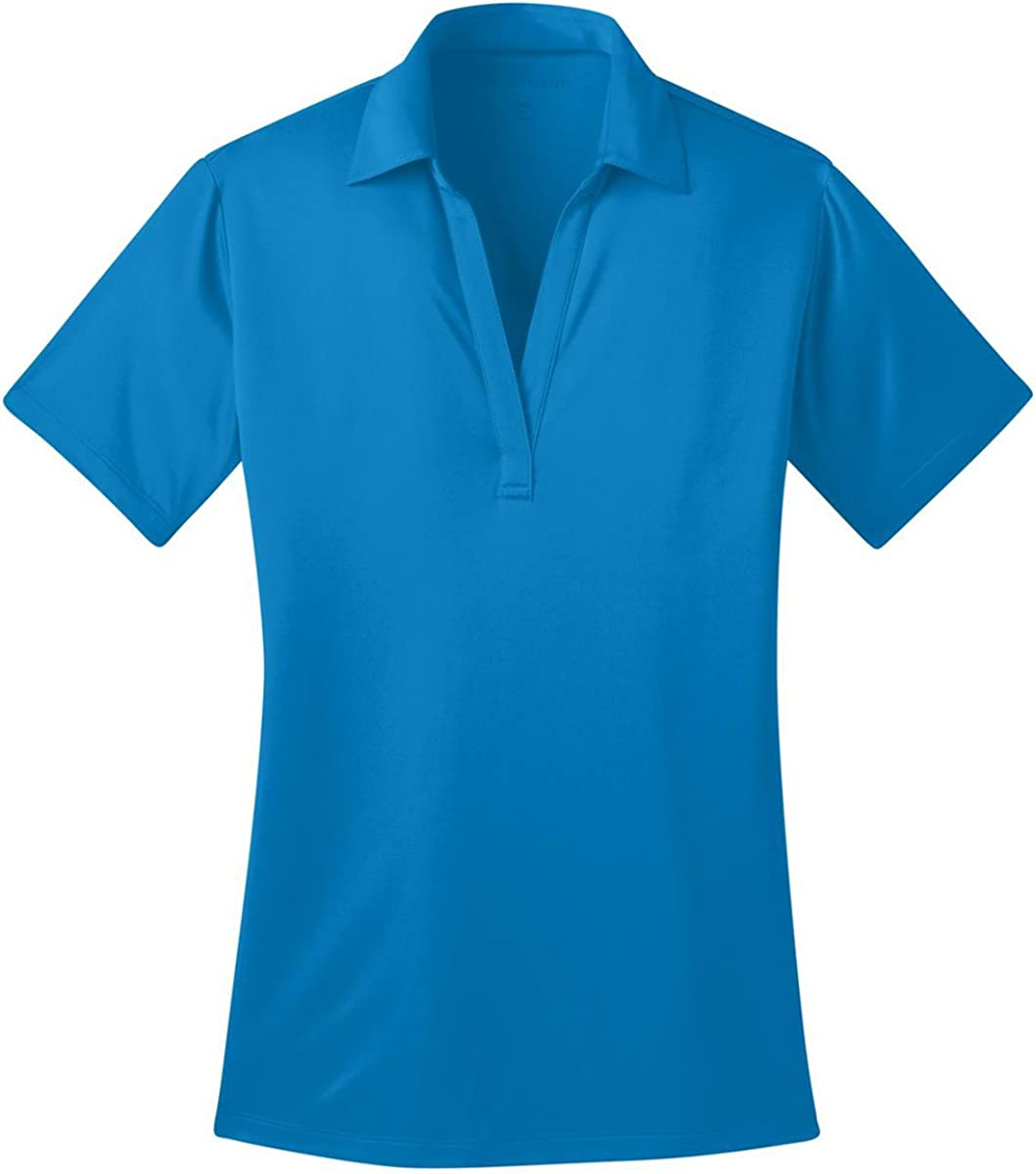 Port Authority Ladies Silk Touch Performance Polo. L540 Brilliant Blue S