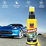 Weite Car Glass Cleaner Rainproof Agent, Automotive Glass and Window Water Repellent Spray Ceramic Coating for Front Windshield Rearview Mirror Glass Rain Mark Oil Film Remover (White)