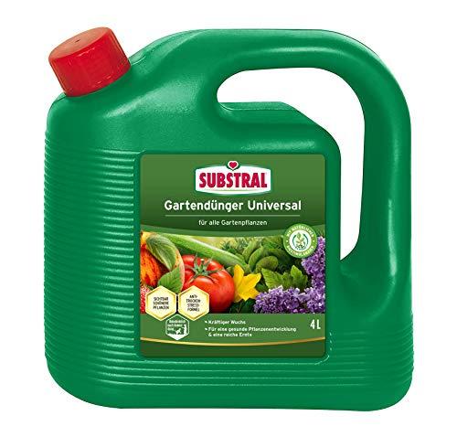 Substral Gartendünger Universal, Flüssigdünger für Blumen, Sträucher, Bäume, Beeren, Obst und Gemüse, 4 L