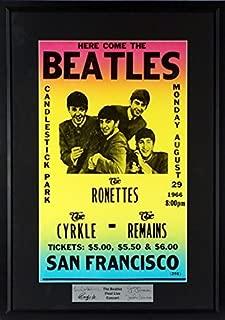 The Beatles @ Candlestick Park Concert Poster (SG Signature Engraved Plate Series) Framed