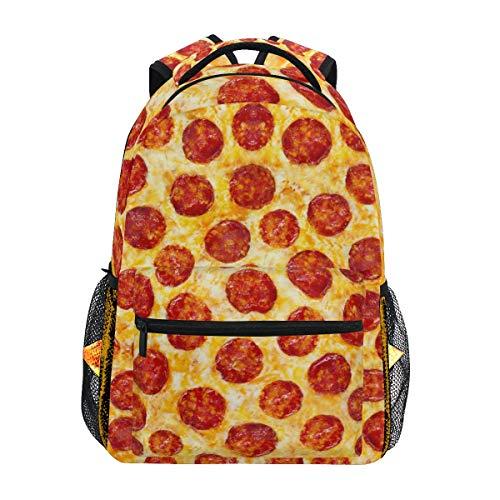 Pepperoni Pizza Backpacks Travel Laptop Daypack School Bags for Teens Men Women
