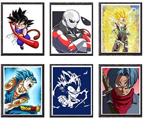 All Might Boku No My Hero Academia All Might Izuku One for All Fabric Canvas Art Print Poster A4 Size,Set of 6,No Frame