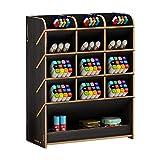 Organizador de escritorio de madera, multifuncional, caja de lápices de colores, soporte multifuncional para bolígrafos, soporte de mesa, estante de almacenamiento para el hogar/oficina/escuela