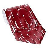 Herren Klassische Krawatte Rot Hockey Torwartschläger Krawatten Herren Krawatte