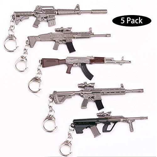5X Arma Guns Pistola 3D Modelo Llavero de Metal, TLongitud...