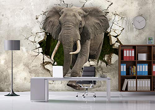 Amazon Com Muraviewall 3d Elephant Shattered Wall Sticker Wall Fabric Wallpaper 3d Wall Mural Self Adhesive Exclusive Design 3d Photo Wallpaper Peel And Stick I Custom Color And Custom Size Handmade
