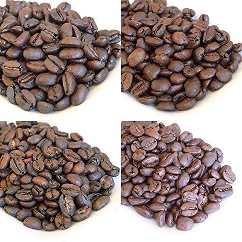 カフェインレス4種飲み比べセット 焙煎豆(100g×4) (粗挽き)