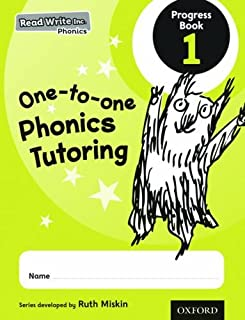 Read Write Inc. Phonics: One-to-one Phonics Tutoring Progress Book 1 Pack of 5