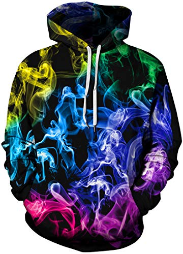 Chaos World Men's Novelty Hoodie Realistic 3D Print Pullover Unisex Casual Sweatshirt(L,Lips)