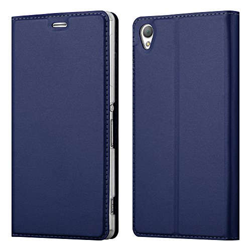 Cadorabo Hülle für Sony Xperia Z3 in Classy DUNKEL BLAU - Handyhülle mit Magnetverschluss, Standfunktion & Kartenfach - Hülle Cover Schutzhülle Etui Tasche Book Klapp Style