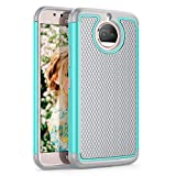 Till for Moto G5s Plus Case, Till(TM) [Turquoise] [Shock Absorption] Dual Layer Hybrid Rugged Defender Soft Rubber & Hard Plastic Protective Grip Cute Case Cover for Moto G5s Plus