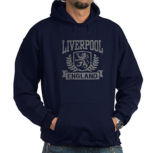 CafePress Liverpool England Sweat à capuche Noir - Bleu - Medium