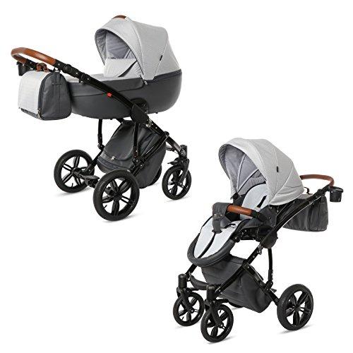Knorr-Baby Premium Kombi-Kinderwagen Ladena graphik-hellgrau