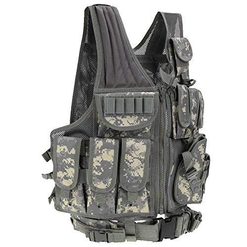 Chaleco Táctico Militar al Aire Libre Tactical del Ejército de Poliéster Juego de Guerra Airsoft Caza Vest de Excursión Que Acampa