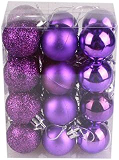 KingWo 24 Pcs/lot 30mm Christmas Tree Decor Ball Bauble Hanging Ornament Decorations for Home Christmas