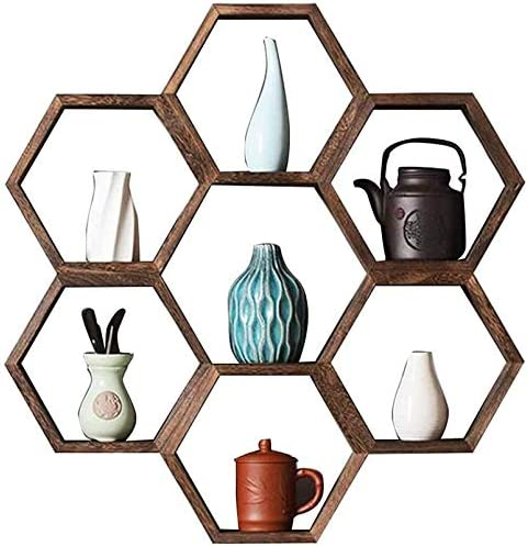 DNSJB Solid All items free shipping Wood Shelf Wall 4 years warranty Set Tea Hanging She Decoration