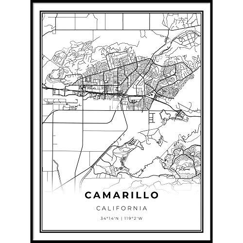 Skanndi Camarillo Map Print, California CA USA Map Art Poster, Ventura, Modern Wall Art, Street Map Artwork 9x11