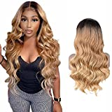 Perruque Bresilienne Cheveux Humain Blond 13x1 Lace Frontal Human Hair Wig T Shape Ombre Body Wave Bresilienne Virgin Hair Wig 1b/27 Swiss Lace Pre Plucked With Natural Hairline 16 Inch