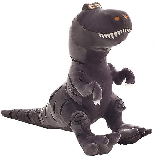 Reconnaissant pour tout Dinosaur Peluche Tyrannosaurus Rex King Taille Ragdoll Journée des Enfants pour Envoyer des Cadeaux d'anniversaire Garçons poupées Mignonnes (gris) (Taille   35×49)