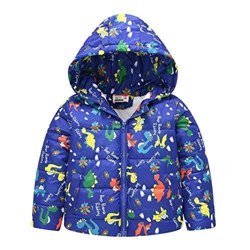 MAZ 1-6 Años Niños Niños Niños Beby Girls Boy Invierno Al Aire Libre Abrigo Tibio con Capucha Abrigo a Prueba de Viento,Azul