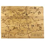 Totally Bamboo Destination Series Colorado State Shaped Serving and Cutting Board, Bamboo, 14.5' x 10.75'