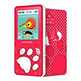 Wiwoo MP3 Player for Kids, MP3 Player with FM Radio, Video, Photo and Voice Recorder, 1.8 Inch TFT Screen MP3 Music Player Expandable Up to 128GB, Red