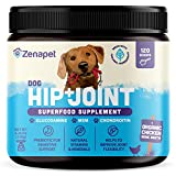 Zenapet Superfood for Dog Joint Health & Dog Arthritis Pain Relief - Pure & Potent with Glucosamine Chondroitin & MSM -120 ct