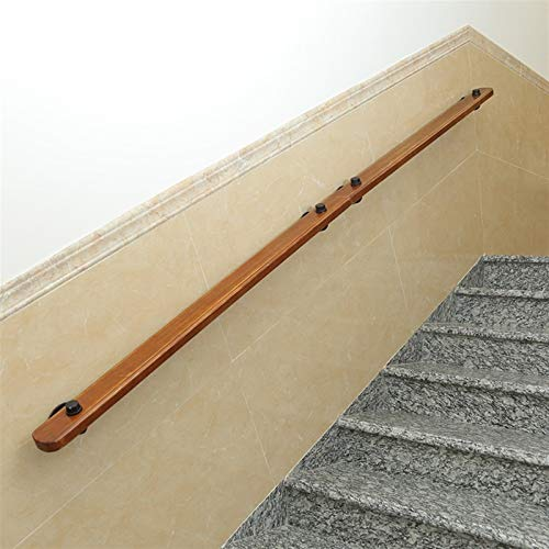KUNYI Wandmontage Rundtreppengeländer, Massivholz-Innen Alter Mann Anti-Rutsch-Geländer, Zugang Korridor Balustrade (Size : 120cm)